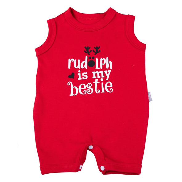 "Christmas ""Rudolph is my bestie"" Romper"
