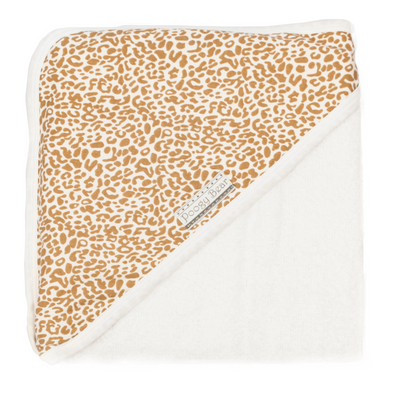 Hooded Towel Leopard Gold