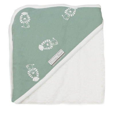 Hooded Towel Teal Lions