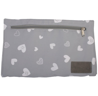 Jeankelly Changing Clutch Grey Hearts