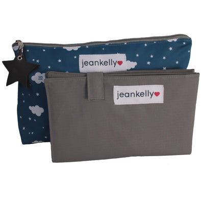 Jeankelly Changing Pouch Star and Clouds - Navy - Lulla-Buy