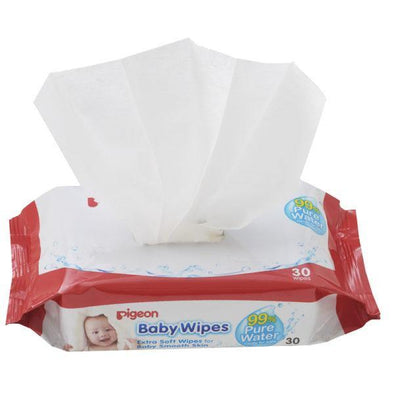 Pigeon 99% Pure Water Baby Wipes 30s