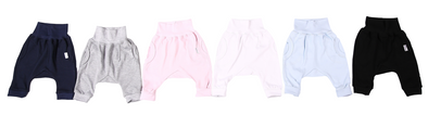 Harem-Style Baby Slouch Pants 100% cotton