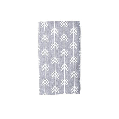 Stretch Cotton Swaddle Blanket – Grey Arrow