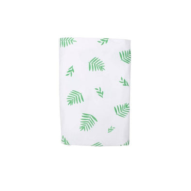 Stretch Cotton Swaddle Blanket – Green Leaf