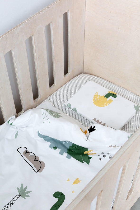 Thin Stripe Cot Fitted Sheet