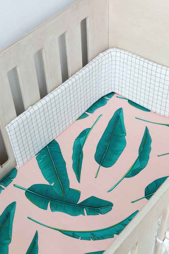 Palm Leaf Cot Fitted Sheet