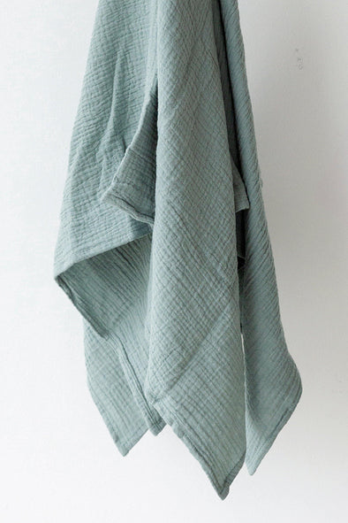 Muslin Swaddle Blanket - Duck Egg