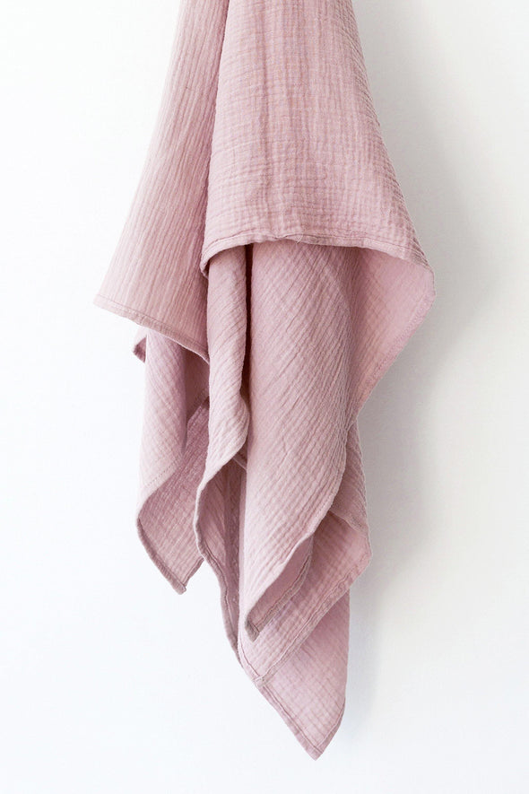 Muslin Swaddle Blanket - Dusty Pink - Lulla-Buy