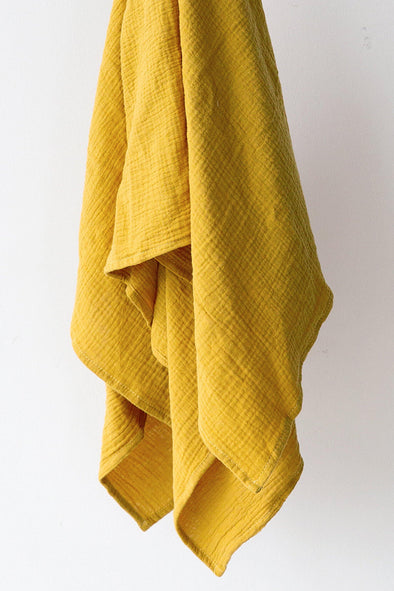 Muslin Swaddle Blanket - Mustard Yellow