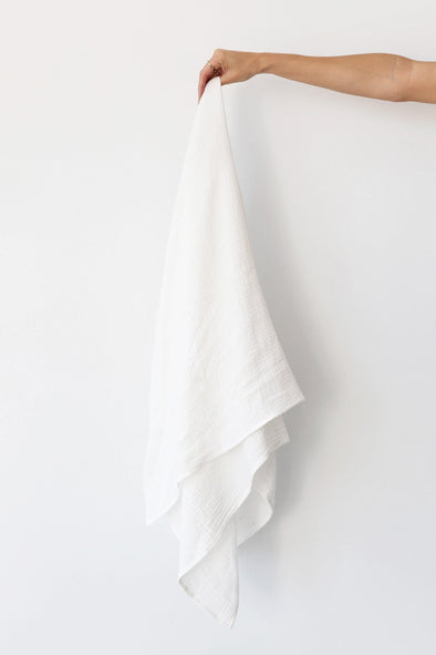 Muslin Swaddle Blanket - White