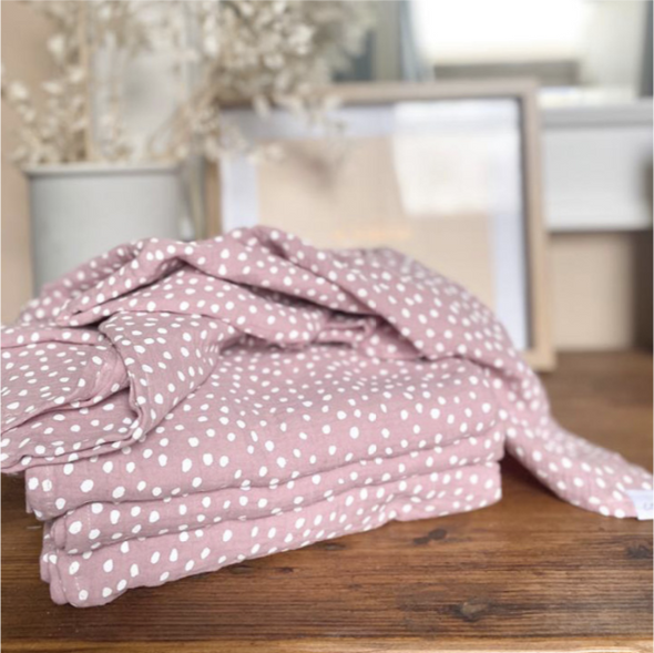 Muslin Wrap Blanket - Small Smudge Dot - Lulla-Buy