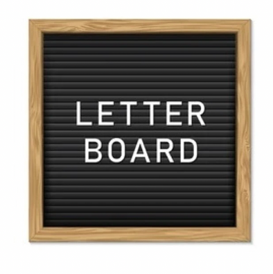 Letter Board with Extra Letters