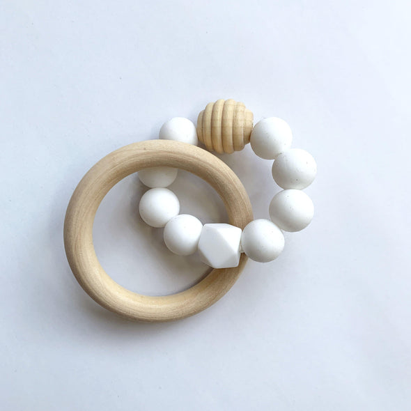 Silicone Bead Ring Teether