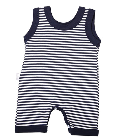 Navy Striped Baby Romper - Lulla-Buy