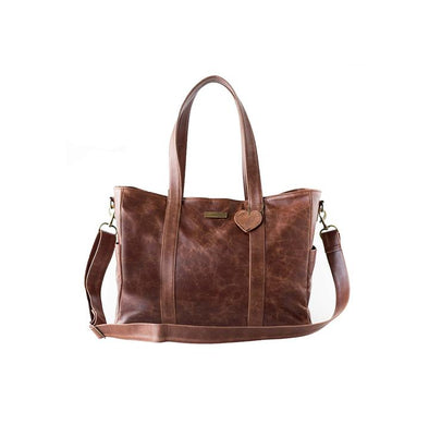 The Luxury Baby Bag in Brown with Changing Mat