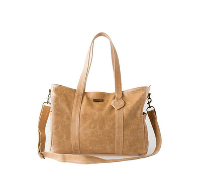 The Luxury Baby Bag in Tan with Changing Mat