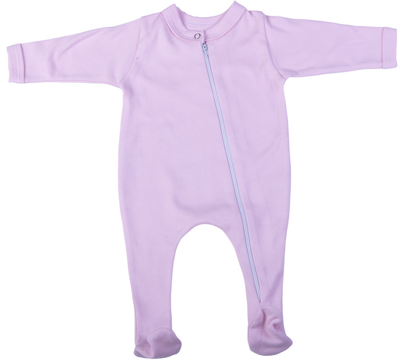 Cotton Zip Babygro
