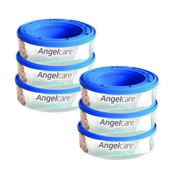 Angelcare Nappy Disposal Round Refill Cartridge - 6 pack - Lulla-Buy
