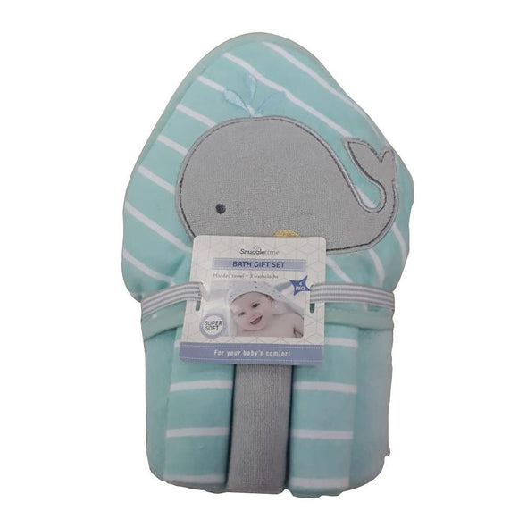 Hooded Towel with 3pk Facecloth Gift Set