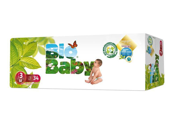 Bio Baby Biodegradable Nappies - Size 3 (7-10 kgs) - 34 Nappies