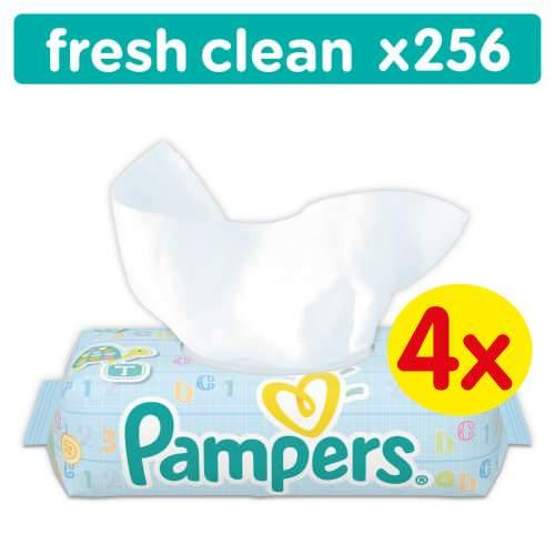 Pampers Baby Fresh Clean Wipes 4x 64 - 256 Wipes