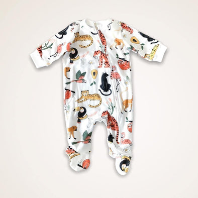 Zip Babygro - Jungle Friends