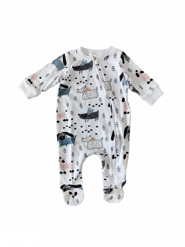 Zip Babygro - Dog's World - Lulla-Buy