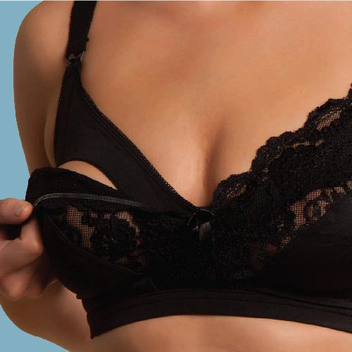 Carriwell Lace Drop Cup Bra Black