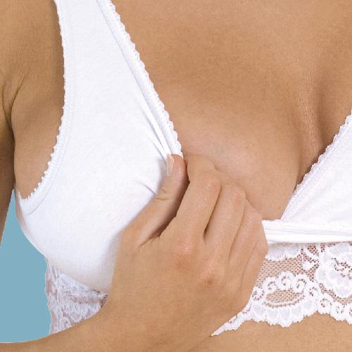 Carriwell Lace Feeding Bra White
