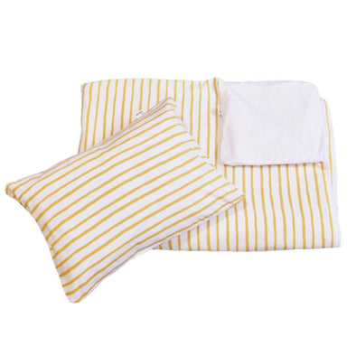 Mustard stripe duvet set