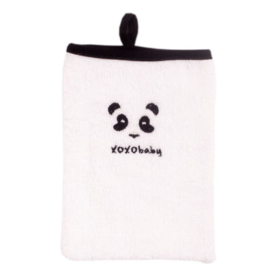 Panda mitten face cloth