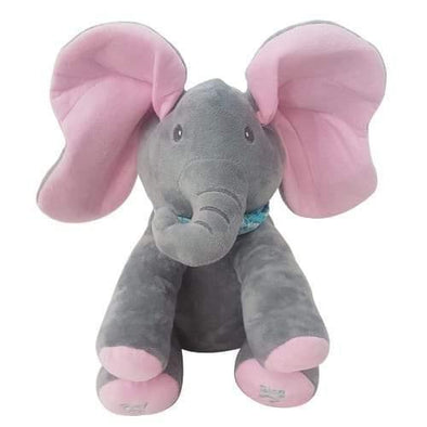 Plush Peek-a-Boo Singing Elephant - Pink - Lulla-Buy