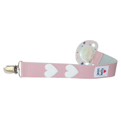 Jeankelly Leather Dummy Clip - Hearts - Lulla-Buy
