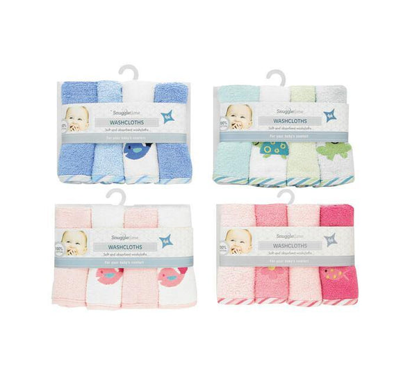 Deluxe Terry Washcloths - 4 Pack