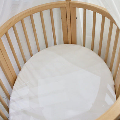 White fitted sheet for stokke sleepi - Oval