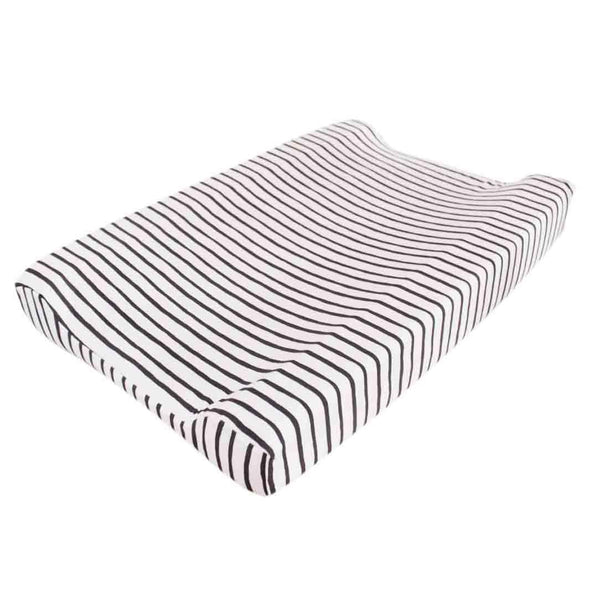 Black stripe changing mat cover (Cover only) - Lulla-Buy