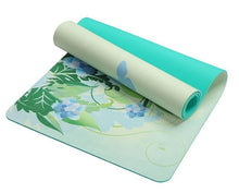 Load image into Gallery viewer, Positive Paradise Lotus Pattern Suede Yoga Mat Non-slip