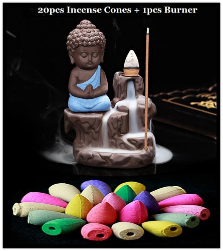 Positive Paradise Incense Cone Burner with 20 Incense Cones