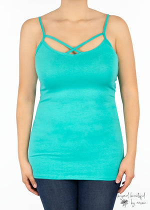 Paisley Raye Criss Cross Cami with Beyond Beautiful by Cassie, shop now at http://beyondbeautifulbycassie.com/