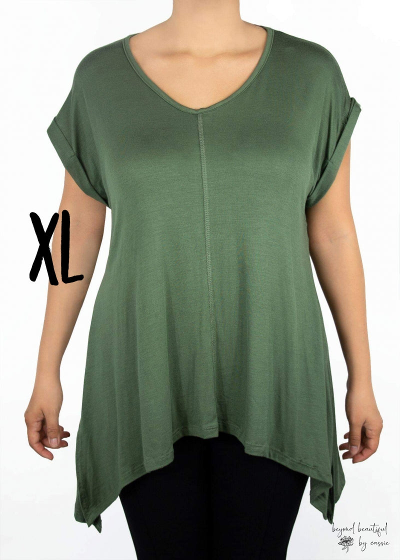 Tulip Tee Olive Green (X-Large)