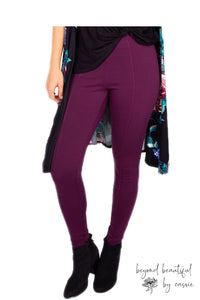 Burgundy Pixie Pants by Paisley Raye with Beyond Beautiful by Cassie, shop now at http://beyondbeautifulbycassie.com/