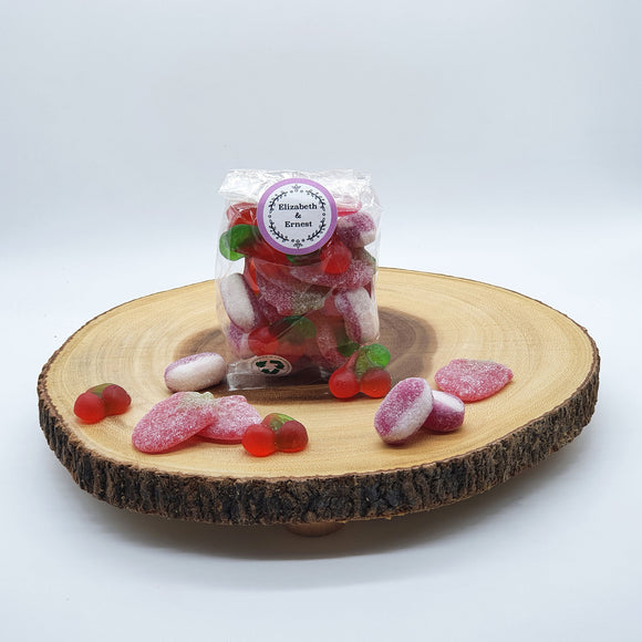 Valentine's Sustainable Vegan Pick 'n' Mix Sweets - In A Biodegradable Cellulose Pouch 200g