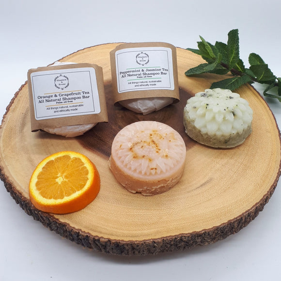 All Natural Shampoo Bar with Essential Oils - Plastic Free