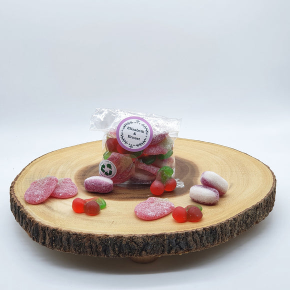 Valentine's Sustainable Vegan Pick 'n' Mix Sweets - In A Biodegradable Cellulose Pouch 100g