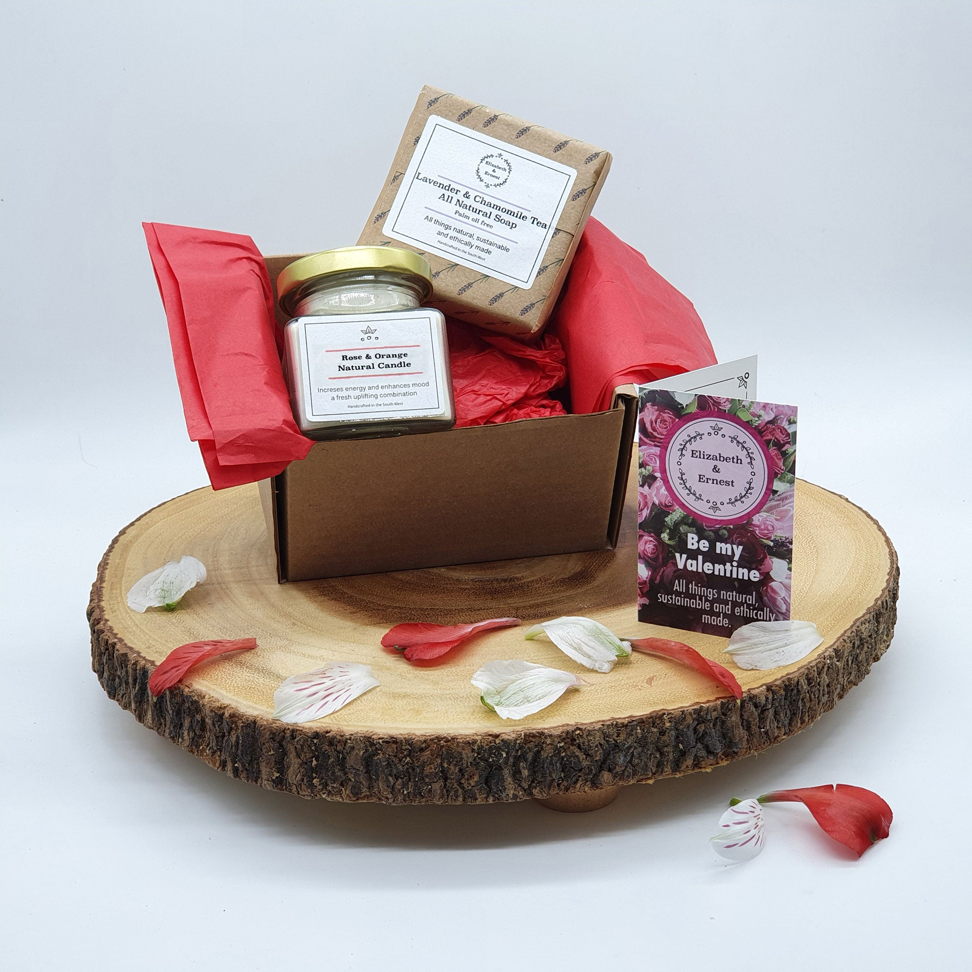 Valentine S Sustainable Gift Set Soy Wax Candle Palm Oil Free Soap Elizabeth Ernest All Things Natural Eco Friendly Ethical Sustainable