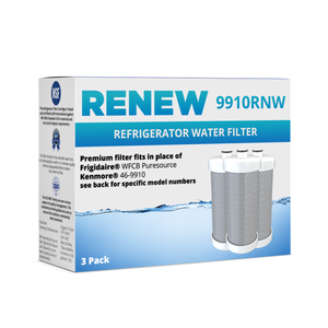 Renew 9910RNW Replacement Water Filter - Fits Kenmore 9910, RG100, NGRG2000 and more!