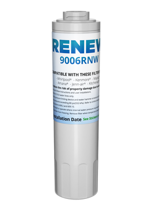 Renew 9006RNW Replacement Water Filter - Fits Maytag 4396395, UKF8001AXX, Puriclean II, and more!