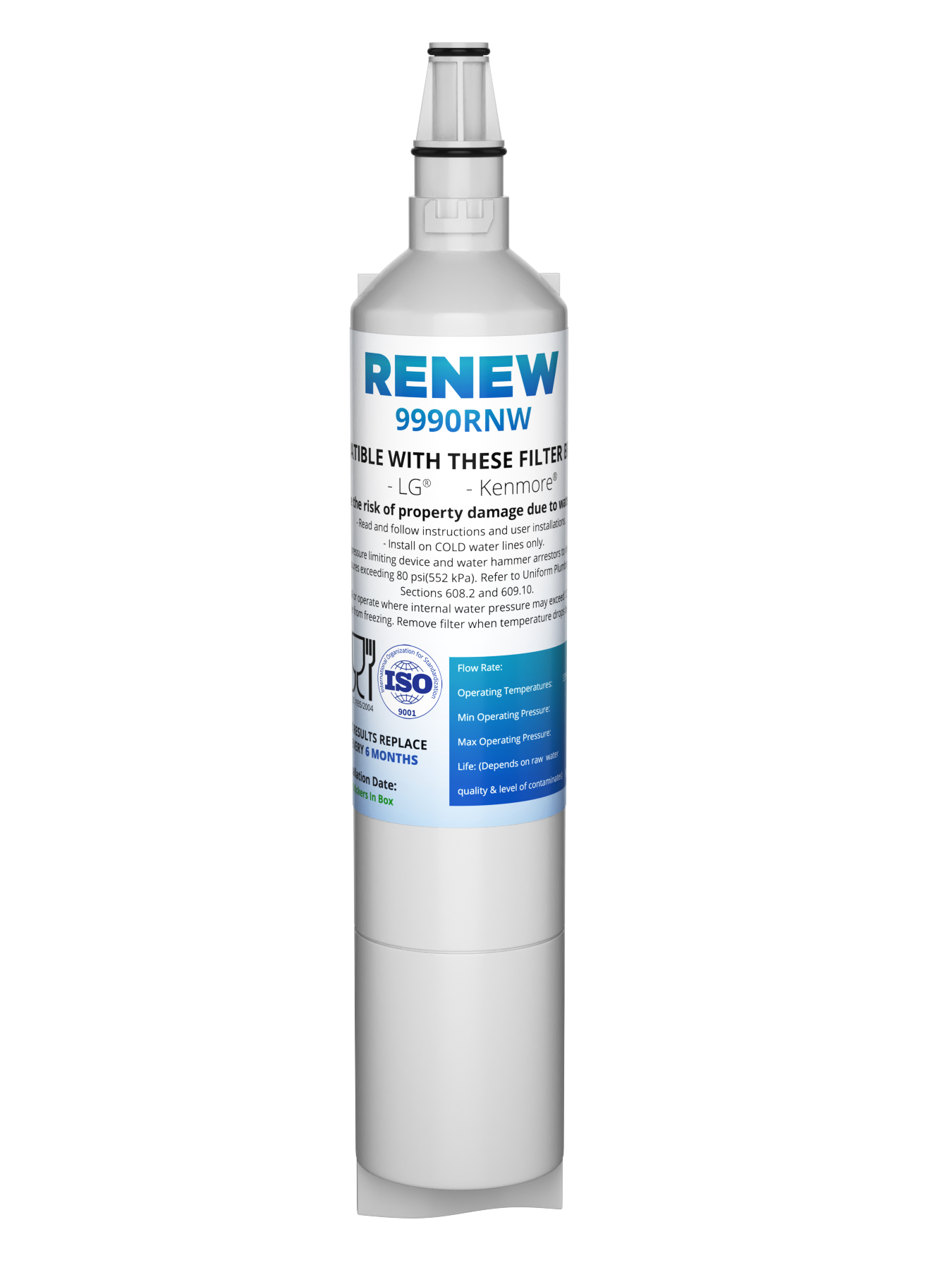 Renew 9990RNW Replacement Water Filter - Fits LG 5231JA2006A, LFX25960ST, LFX25971ST, and more!