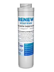 Renew MSWFRNW Replacement Water Filter - Fits GE MSWF, MSWFDS, WSG-3, and more!